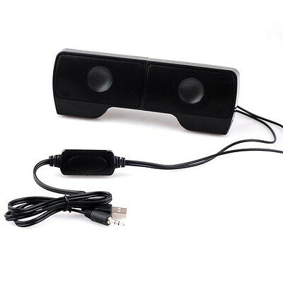 Hot Wall-mounted External Computer USB Speaker Stereo for Music Player Laptop PC 6