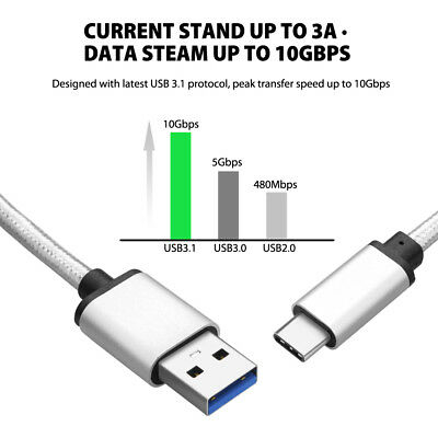 Strong USB Type-C 3.1 USB-C Data Sync Charger Cable For Samsung Galaxy S8 S9 S10 3