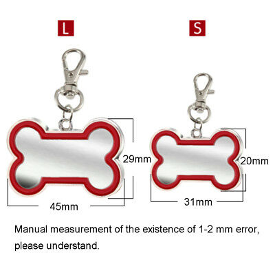 Engraved Pet Dog Tags Custom Cat ID Name Tags for Pets Personalized FREE S M L 5