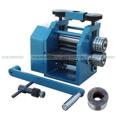 MANUAL COMBINATION ROLLING Mill Machine Jewelry Press Tabletting Tool 4