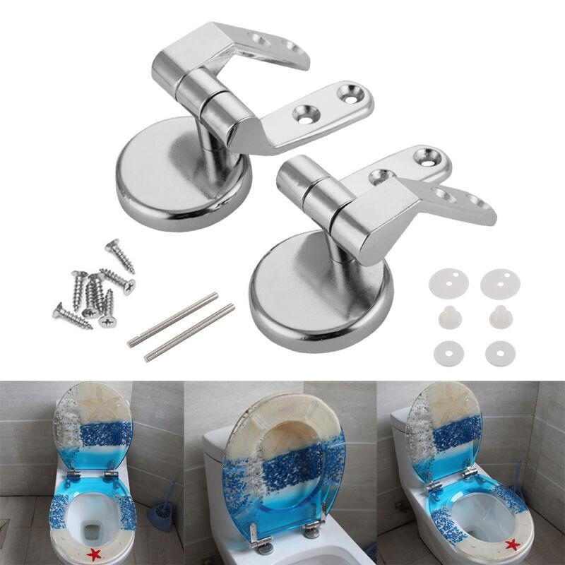 Siège de Toilette Charnière Universel Fixation Abattant WC Remplacement Rechange 2