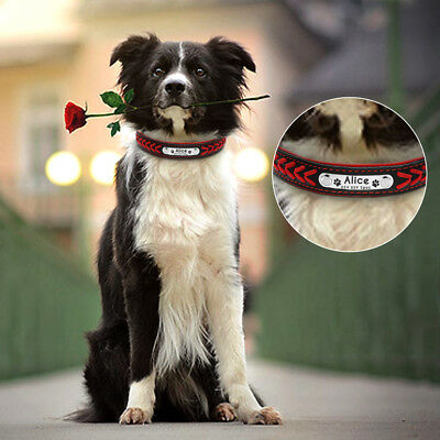 Collar de piel para perro grande suave Personalizable Collar grabado para perro 11