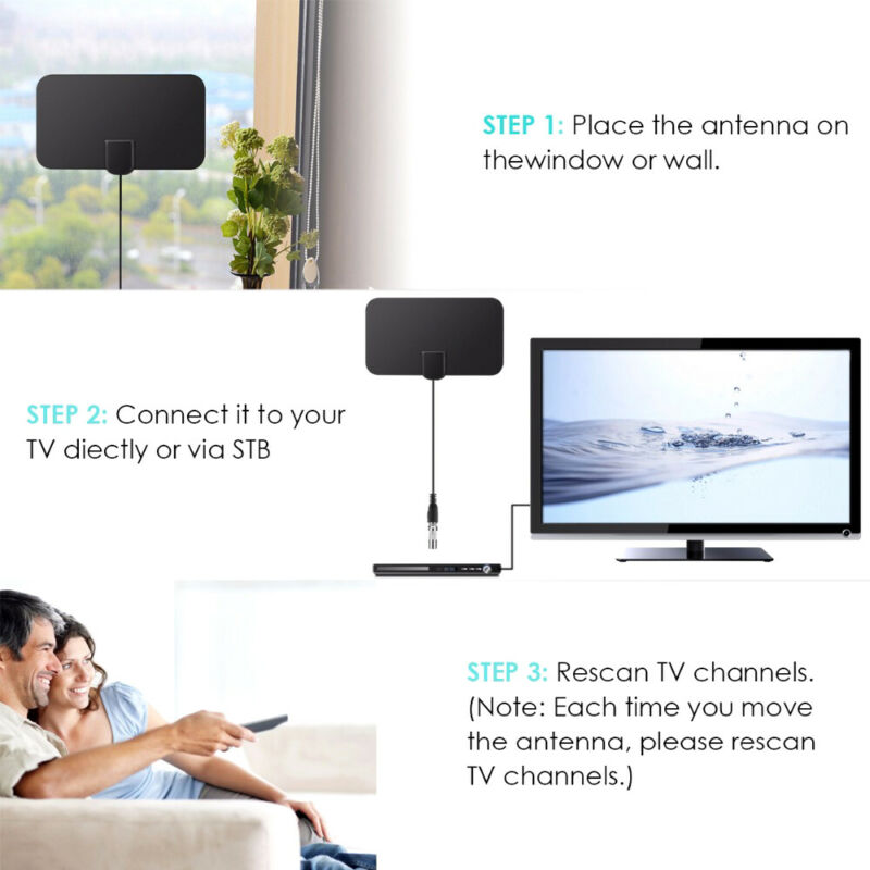 1/2 960 Miles Indoor Digital TV HDTV Antenna [2019 Latest] UHF/VHF/1080p 4K 10