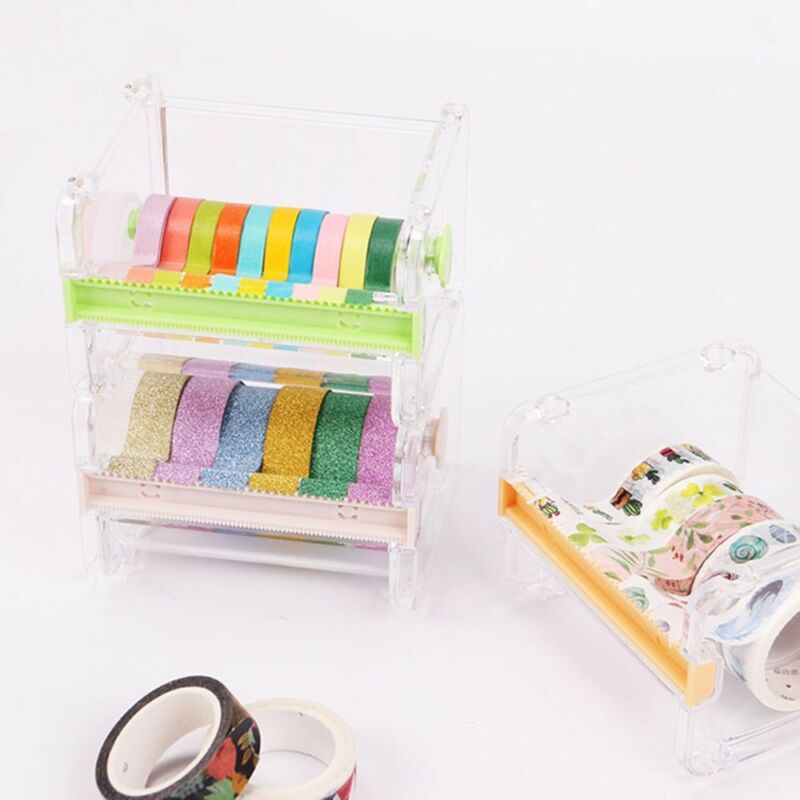 Masking Tape Cutter Washi Tape Storage Organizer Cutter Office Tape DispenserHot 6