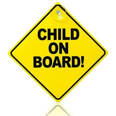Strong Baby On Board Child Safety Suction Cup Car Vehicle Baby On Board Car Sign 2