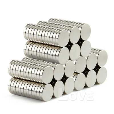 100x Super Strong Round Disc Magnets Rare-Earth Neodymium Magnet N35 10 x 2 mm 3