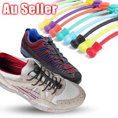 Shoe Laces Unsiex Adults Kids Elastic No Tie Locking Shoelaces Sports Sneaker AU 11