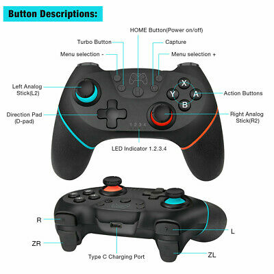 Bluetooth Wireless Gamepad Joystick Pro Controller For Nintendo Switch UK. 4