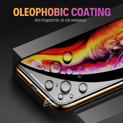 Apple iPhone XS Max XR X 8 7 Plus 10D Tempered Glass Screen Protector Full Cover 7