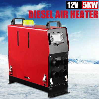 12V 5KW Diesel Air Heater Remote Control LCD Display For Truck Van Motorhome UK 4