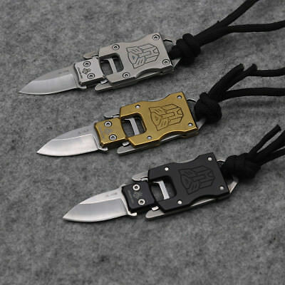 Mini Keychain Fixed B/G/S Knife 420 Blade Tactical Combat Survival Neck Knives 10