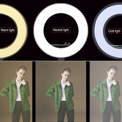 18'' LED SMD Ring Light Kit With Stand Dimmable 5500K For Camera Makeup Phone 7