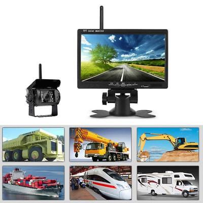 "7"" Monitor + Wireless Night Vision Rear View Backup Camera for RV Truck Van Kit 5"