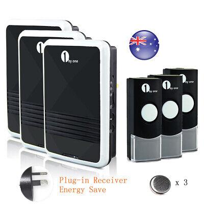 Wireless Doorbell AC Receiver Battery Remote Home Office Digital Door Bell Kit 12