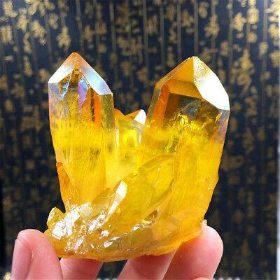 Natural Citrine Amethyst Crystal Quartz Cluster Gem Stone Healing Specimen 5