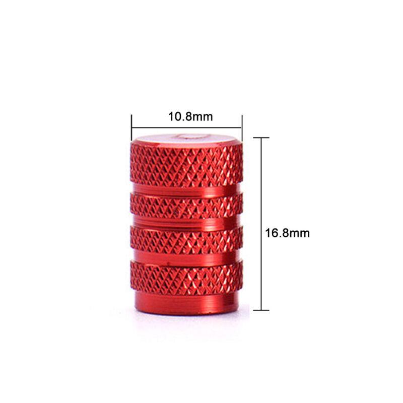 4pcs Aluminium Car Wheel Tyre Valve Stems Air Dust Cover Screw Cap Accessories 4
