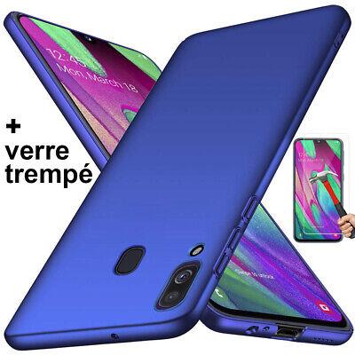 Coque Samsung A70 A50 A40 A20e A10 Housse AntiChoc Case Noir+ Film Verre Trempé 4
