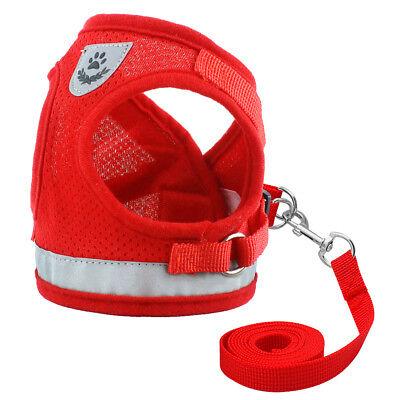 Cat Walking Jacket Harness Leash Escape Proof Adjustable Pet Puppy Dog Mesh Vest 7
