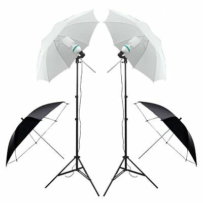 Photography Studio Screen Backdrop Background Support Stand Softbox Umbrella Kit 2