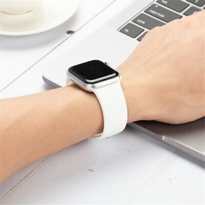 38/42/40/44mm Silicone Sports Band iWatch Strap for Apple Watch Series 5 4 3 2 1 4