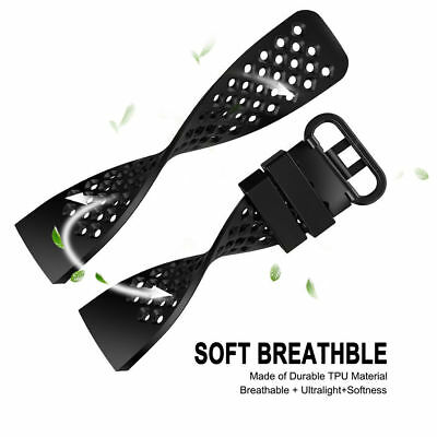 For Fitbit Charge 3 Watch Band Replacement Silicone Breathable Wrist Bracelet 4