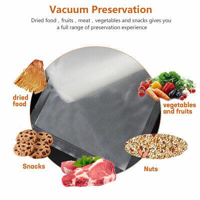 100 X Vacuum Sealer Bags Precut Food Storage Saver Heat Seal Cryovac 3 Size 5