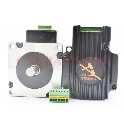 Integrated 2 in 1 Nema23 Stepper Motor L76mm 3A 1.8Nm Shaft 8mm for CNC Router 6