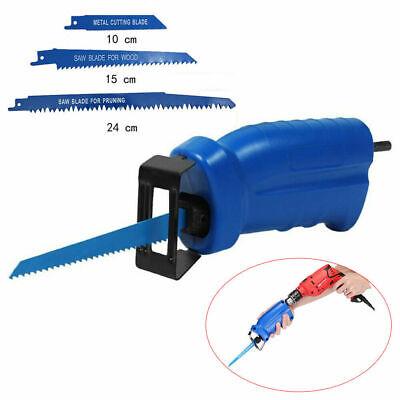Säbelsäge Adapter Elektrik Bohrmaschine Akkusäbelsäge mit 3 Sägeblätter Satz