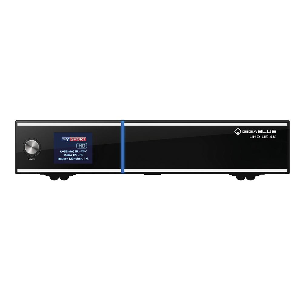 Gigablue 4K UE UHD 2160p 1xDVB-S2 FBC Twin Tuner E2 Linux Receiver 4K Open ATV