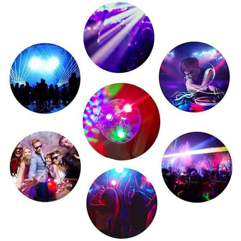3USB Mini LED RGB Disco Stage Light Party Club DJ KTV Xmas Magic Phone Ball Lamp 3