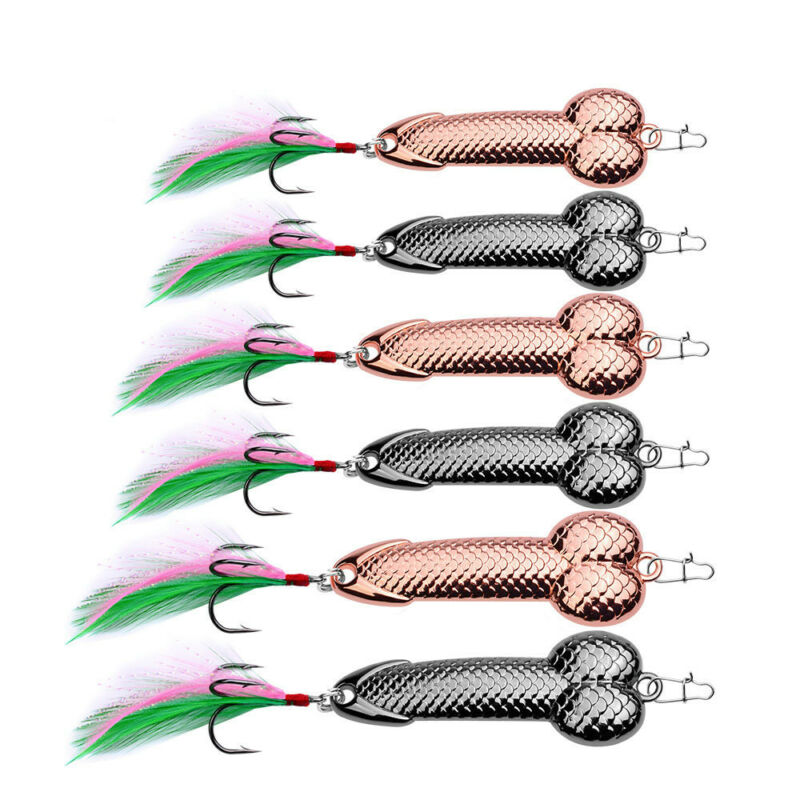 Penis Fishing Lure Bass Funny Tackle Hook dick spinner spoon pike 3g-36g Hot