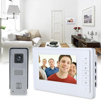 "7"" LCD Video Türsprechanlage Familienhaus Gegen 4 Draht Klingel Sprechanlage DE 3"
