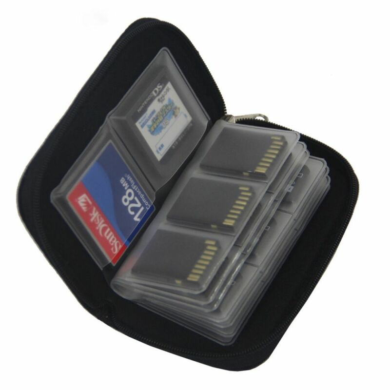 Memory Card Storage Carrying Case Holder Wallet For HC MMC CF Micro SD 2