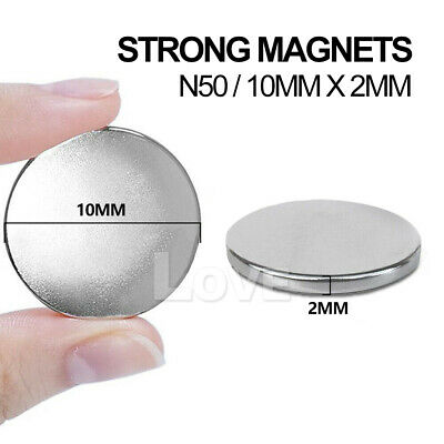 100x Super Strong Round Disc Magnets Rare-Earth Neodymium Magnet N35 10 x 2 mm 5