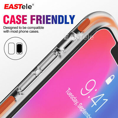 2x EASTele Apple iPhone 8 Plus 7 11 Pro XS Max Tempered Glass Screen Protector 4