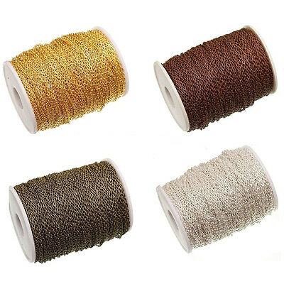 5/10M Silver Cable Open Link Iron Metal Chain Jewelry Making Craft 3x2MM 2