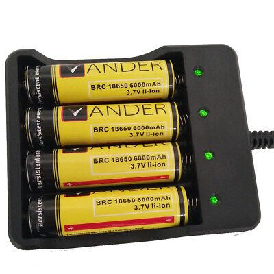 Vander 4X Ladeschächten für LiIon und NimH 18650 Akkus Mit Ionen Ladegerät