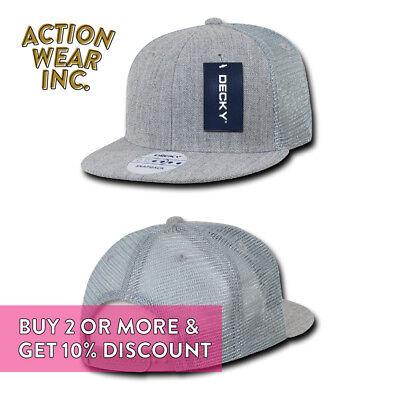 ... Decky Men s Mesh Hat Trucker Hats Baseball Cap Snapback Caps Plain Two  Tone Hat 8 39cf2042f0c5