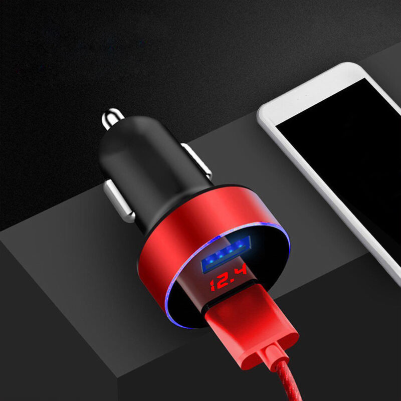 1PC Dual Ports 3.1A USB Car Auto Cigarette Charger Lighter Digital LED Voltmeter 11