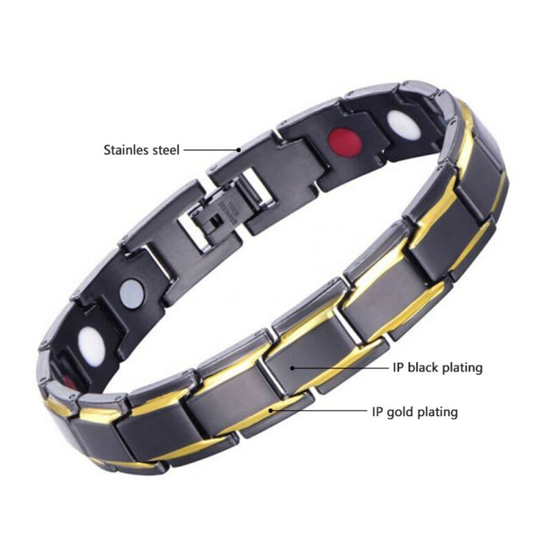 Therapeutic Energy Bracelet - Magnet Therapy Bracelet Health Care (Men Style) 2