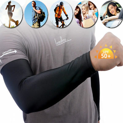 2Pairs UV Sun Protection Compression Cooling Sports Arm Sleeves Warmer Covers 2