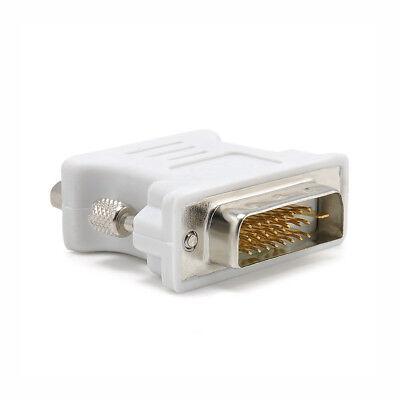 DVI to VGA SVGA Converter Adapter DVI-D Dual Link 24+1 pin Male to 15 Female New 2