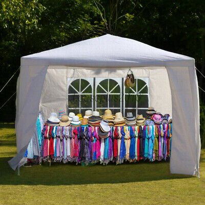 Gazebo 3x3M Heavy Duty Stronger Waterproof Fully Garden Canopy Tent With 4 Sides 4