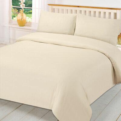 Brentfords Plain Duvet Cover with Pillowcase Bedding Set Single Double King New 2