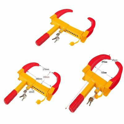 2X Heavy Duty Wheel Clamp Anti Theft Lock Caravan Trailer Security With Keys Chn 6