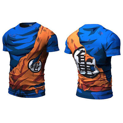 Hommes Dragon Ball Son Goku Vegeta T-Shirt Short Long Pantalons Cyclisme Top Tee