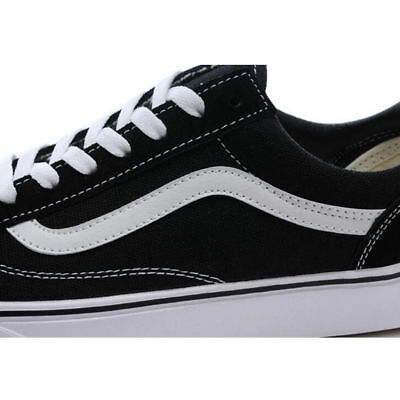 VAN Old Skate Shoes Black/White All Size Classic Canvas Sneakers UK3-UK9.5 6