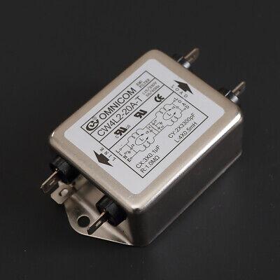 Yosoo Health Gear Power Line EMI Filter Terminal 115V//250V 20A 50//60Hz High Performance Power Line Filter CW4L2-20A-T