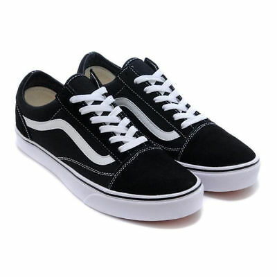VAN Old Skate Shoes Black/White All Size Classic Canvas Sneakers UK3-UK9.5 3
