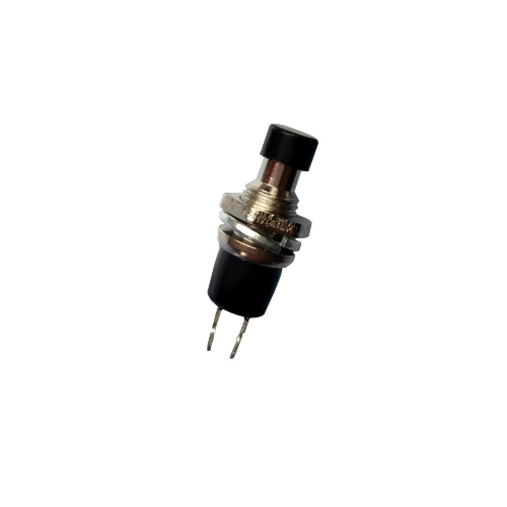 pulsante da pannello normalmente chiuso NC con tasto nero 6mm 125V 1A 110V 12V